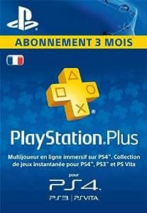 PlayStation Plus: abonnement de 3mois [Code Jeu PSN PS4 - Compte français]