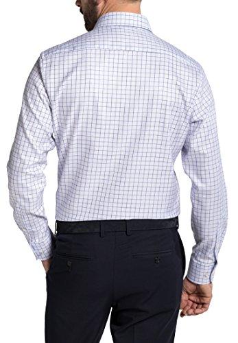 Eterna Long Sleeve Shirt Modern Fit Twill Checked azzurro chiaro/blu marino