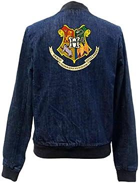 Hogwarts Shield Bomber Chaqueta Girls Jeans Certified Freak
