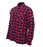 Bores Lumberjack Damen Jacken-Hemd,  Reißfest, Wasserabweisend, Rot-Schwarz Kariert, Größe S