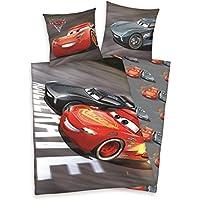 Herding DISNEY CARS 3 Bettwäsche-Set, Wendemotiv, Bettbezug 135 X 200 cm, Kopfkissenbezug 80 x 80 cm, Baumwolle/Renforcé
