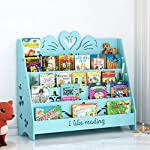 PLL Blue Swan Modeling Cartoon Carved Childrens Picture Book Shelf Living Room Floor Corner Book Display Stand School Reading Bookshelf