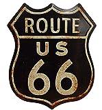 MamBini Blechschild Route 66 Straßenschild US Highway Wandschild USA Barschild