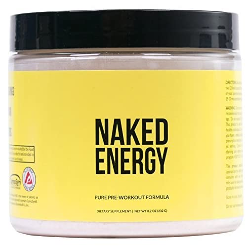 51QwiWAjPNL. SS500  - Naked Energy - Unflavored All Natural Pre Workout Supplement for Men and Women, Vegan Friendly, No Added Sweeteners, Colors or Flavors - 50 Servings