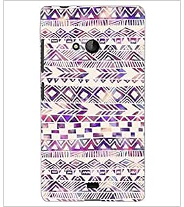 PrintDhaba Pattern D-2188 Back Case Cover for MICROSOFT LUMIA 540 (Multi-Coloured)