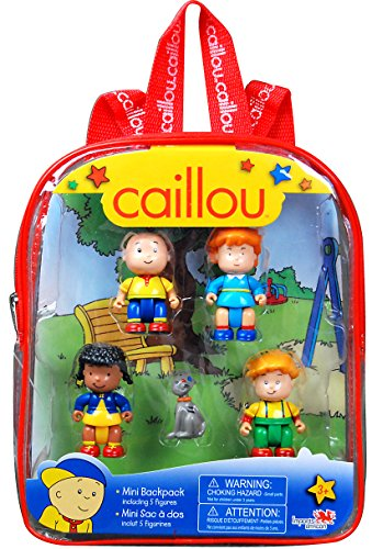Caillou Mini Backpack with Figures (Styles Can Vary)