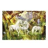 CHQYY Rompecabezas clásico- 1000 Rompecabezas de Madera for Adultos - Rompecabezas de Madera de Unicornio de fantasía Tamaño Infantil, 70 * 50 cm -Puzzles (Color : A)