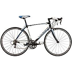 """KS Cycling Morzine de Adore 156A - Bicicleta de carretera, color blanco / negro / azul, ruedas 28"""", cuadro 53 cm"""