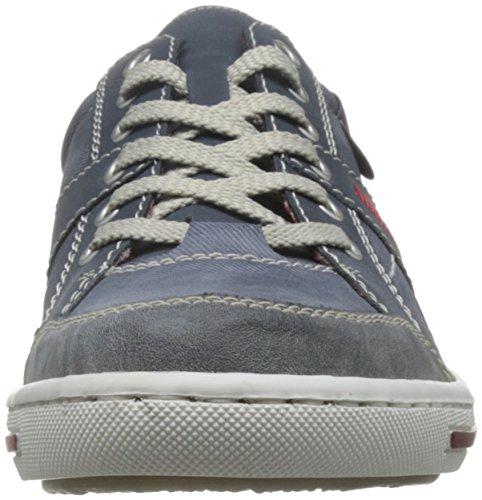 Rieker Samuel/P, Baskets mode homme Bleu (Rauch/jeans/denim / 47)