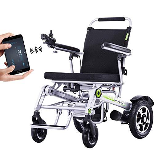 L.TSA Remote Elektrorollstuhl, GPS Folding Power Rollstuhl Vollautomatische Bluetooth mit Telefon App Unterstützung für eine behinderte Person Moderner Elektrorollstuhl Home Office Shopping