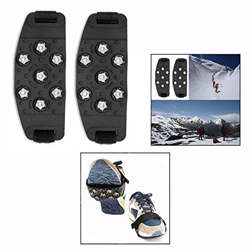 OFKPO 1 paire Crampon Antidérapent, Crampons pour Chaussures, Crampons de Traction pour la Glace et la Neige