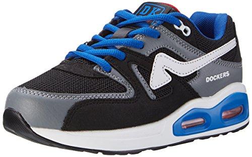 Dockers by Gerli 39ld610-702120, Sneakers Basses Mixte Enfant Noir (Schwarz/grau 120)
