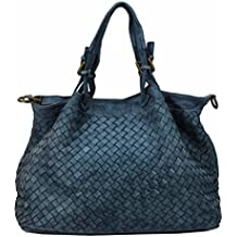 23b5b35333378 BZNA Rene Bag Blau blue Italy Designer Damen Handtasche Schultertasche  Tasche Schafsleder Shopper Neu