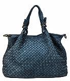 BOZANA Bag Rene Blau blue Italy Designer Damen Handtasche Schultertasche Tasche Schafsleder Shopper Neu