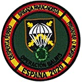 Gemelolandia   Parche bordado para la ropa Operación Balmis 2020 Operación Militar Española 8 cm Parche Hook and Loop Unidade