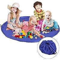 TedGem 60 inch Play-Tappeto gioco per bambini, Tappeto Gioco Per Bambini, Lego Tappeto di gioco da spiaggia Tappetino Borsa a tracolla ideale per un veloce la raccolta Lego,Stuoia di Picnic