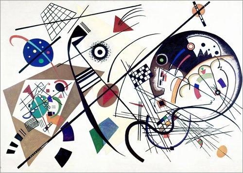 POSTERLOUNGE Poster 100 x 70 cm: Continuous Line de Wassily Kandinsky/akg-Images - Reproduction Haut de Gamme, Nouveau Poster