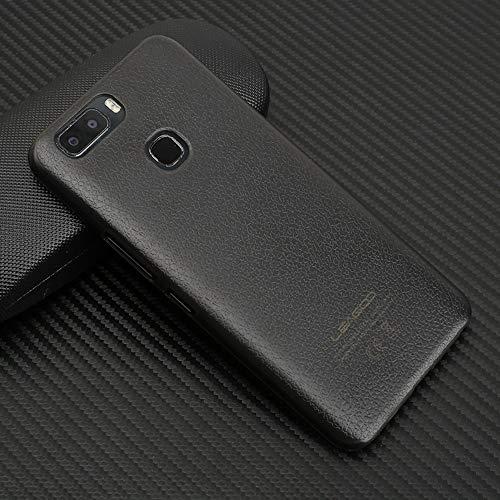 Ycloud Tasche für Leagoo S8 Pro Hülle, Gute Qualität Strukturierter Telefonkasten Hartschalen-Rückabdeckung Handy case Backcover Kunststoff-Hard Shell Handyhülle Case - Grau schwarz