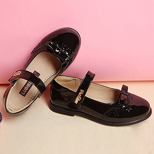 Oasap Girl's Patent Leather Party Mary Jane Shoes pink
