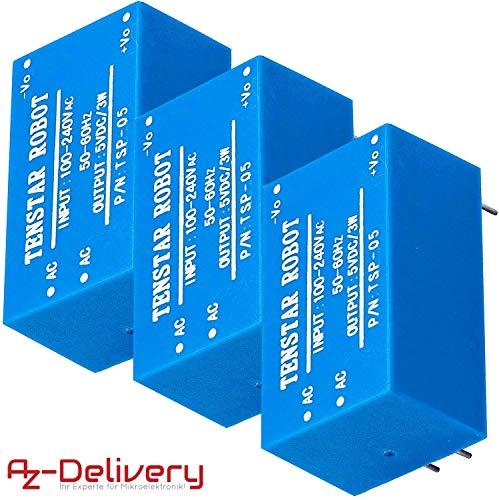 AZDelivery 3 x 220V zu 5V Mini-Netzteil für Arduino und Raspberry Pi -