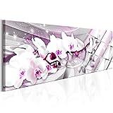 murando® Bilder XXL Format TOP Vlies Leinwand 120x40 cm Fertig Aufgespannt - Abstrakt Wand Bild Kunstdrucke Wandbild b-B-0144-b-d Orchidee Blumen Abstrakt
