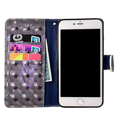 iPhone 6s Plus Custodia,iPhone 6 Plus Custodia in Pelle,Slynmax 3D Modello Copertura Folio Flip Cover PU Wallet Case Per iPhone 6s Plus / iPhone 6 Plus 5.5 Protezione Caso Ultra Sottile Colorato Prote Modello #1