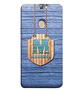 YuBingo Designer Printed Plastic Mobile Back Case Cover Panel for Coolpad Max A8 ( Name Surname Manisha (Wood Finish Printed on Plastic) )