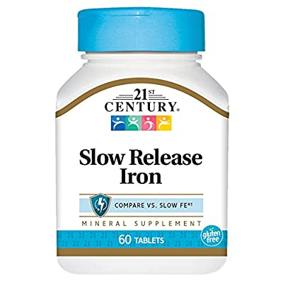 Slow Release Iron, 60 Tablets by 21st Century