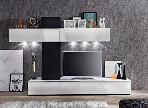 Furnline Living Room Furniture Set Tv Stand Wall Unit White High Gloss Search Furniture