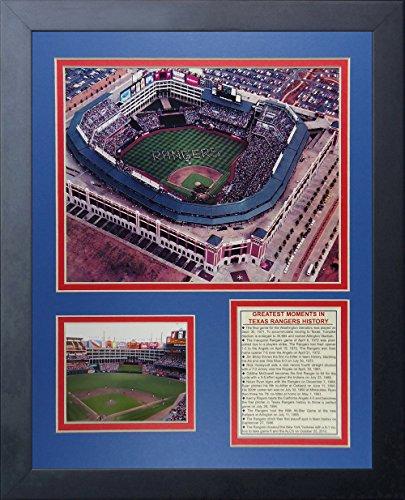 Rangers Ballpark In Arlington (Legenden Sterben Nie Texas Rangers Ballpark in Arlington gerahmtes Foto Collage, 11x 35,6cm)