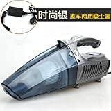 LLZXCQ Car Cleaner/Wet & Dry/Large Suction/High Power/Quad 1/Multifunción/Hand-Held/Automotive/Inflator, Paquete Plateado