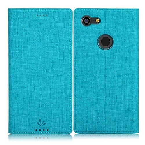 Eastcoo Google Pixel 3 XL Hülle, Flip Folio Wallet Leder Smart Case Tasche Schutzhülle Handyhülle mit [Kartenfach][Standfunktion][Magnetic Closure] für Google Pixel 3 XL Smartphone (Blue)