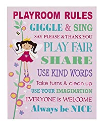 Ganz ER32326 Playroom Rules Wall Plaque