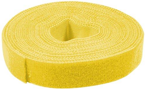 LogiLink KAB0051 Kabelbinder aus Klettband, 4 m, gelb
