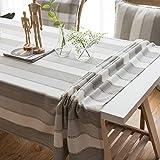 CHRISTMAD Streifen Tischdecken Soft FlaxTable Topper Tischdecken Tischsets Tischschutz Tischwäsche Heimtextilien Esstisch Couchtisch Bar Neujahrs Geschenk,F-140 * 100CM