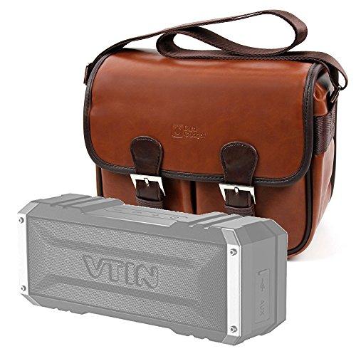 Bolsa profesional marrón con compartimentos para Altavoz Portátil Vtin Royaler / Vtin Punker - DURAGADGET