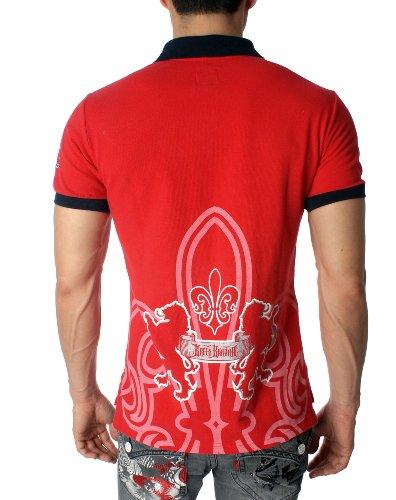 Green Banana Löwenwappen Symbol Design Poloshirt Pique Polo T-shirt Rot