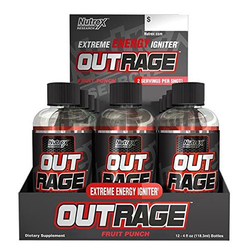 Nutrex - Nutrex Outrage Energy Shot Fruit Punch 12X118,3Ml - 51Qwqbt2KVL