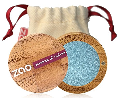 ZAO Pearly Eyeshadow 116 pfauenblau hellblau Lidschatten schimmernd in nachfüllbarer Bambus-Dose (bio, vegan, Naturkosmetik) Liquid Metal Collection 2013 - 101116