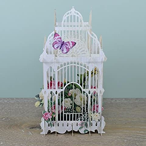 Cage à fleurs–Carte d'anniversaire animée en 3D, Paper D'Art