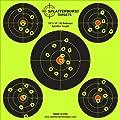 Paket von 25 - Splatterburst Targets - 30,5 cm x 30,5 cm (5) Bullseye Reaktive Ziele - Schüsse platzen leuchtend fluoreszierend gelb beim Aufprall - Gewehr - Pistole - AirSoft - BB Gun - Luftgewehr von Splatterburst Targets Inc