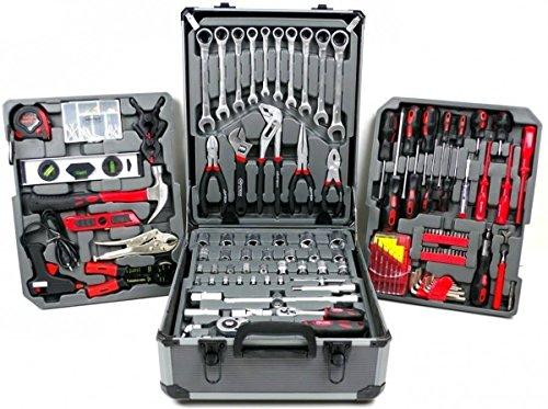 Werkzeugset 186 Teilig Werkzeugkoffer HÖFFTECH Werkzeugtrolley Werkzeugkasten