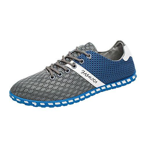 CUTUDE Herren Damen Sneaker Straßenlaufschuhe Sportschuhe Turnschuhe Outdoor Leichtgewichts Laufschuhe Freizeit Atmungsaktive Fitness Schuhe (Grau, 39 EU)