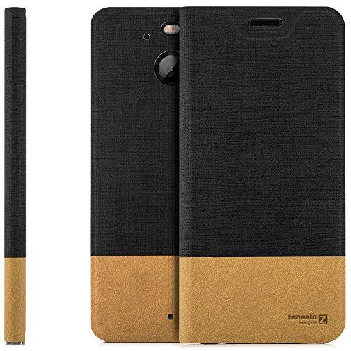 zanasta Designs Tasche HTC 10 EVO Hülle Flip Case Slim Schutzhülle Handytasche mit Kartenfach, Standfunktion | Schwarz