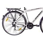 28-pollici-di-lusso-in-alluminio-City-Bike-Trekking-ruota-da-ciclismo-uomo-chrisson-intouri-Gent-con-24-G-SHIMANO-Bianco-Opaco