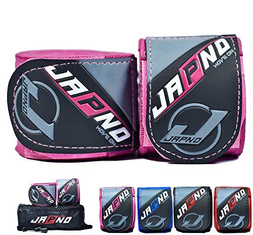 Japno Advanced Handbandagen, - Superior Qualität Hand Wraps für Combat Sports, MMA und Martial Arts ★ 5 Meter Gummizug Bandagen von (Combat Sports Handschuhe)