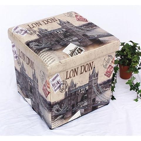 Sgabello in similpelle Seduta-sgabello 2002 Pacco d'imballaggio 40cm Cubo-seduta Cassa Cesto