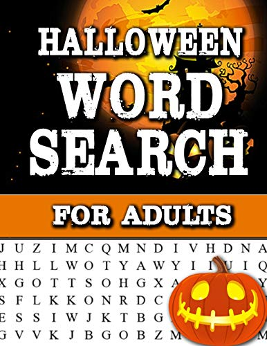 h For Adults: Large Print Word Search Book For Adults Find Puzzles with Pictures And Answer Keys Spooky Halloween Activity Book ()