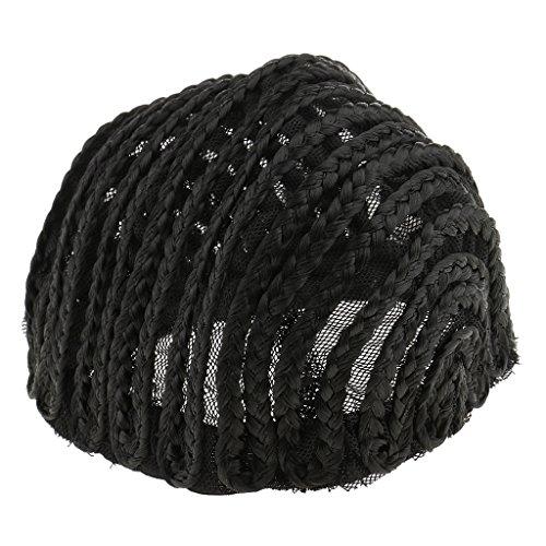 MagiDeal Perückenkappe - Cornrow Full Braided Wig Cap, Schwarz geflochtene Perücke Kappe, Größe Auswählbar - M