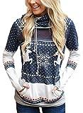 Dokotoo Damen Pullover Bluse Sweatshirt Langarmshirt Herbst Pullover Hemd Tops Rundhalsausschnitt Frauen Oberteile Sommer Hemdbluse 3/4 Arm T-Shirt Kapuzenpullis S (Textilien)